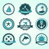 Summer badges Stock Photography
