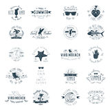 Summer Badges Royalty Free Stock Image