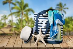 Summer bag Royalty Free Stock Photography