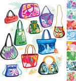 Summer bags with patterns Royalty Free Stock Photos