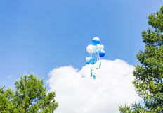Summer Balloons Flying stock photo