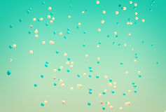Summer balloons flying Stock Images