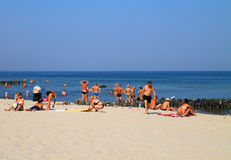 Summer on the Baltic Sea coast in Zelenogradsk Stock Images