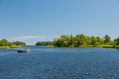 Summer by the Baltic Sea in Sweden. A picture of the Swedish archipelago by the Baltic Sea stock images