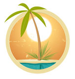 Summer Banner. Illustration of a cool summer and beach  banner Royalty Free Stock Photo
