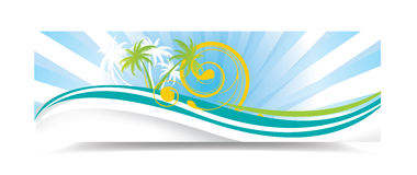 Summer banner Stock Photography
