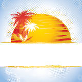 Summer banner royalty free illustration