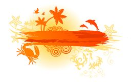 Summer Banner Royalty Free Stock Image