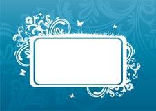 Summer banner. Summer blue banner, vector illustration Stock Photography