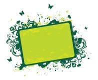 Summer banner. Summer green banner, vector illustration royalty free illustration