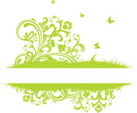 Summer banner. Summer green banner, vector illustration Royalty Free Stock Images