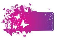 Summer banner. Summer pink banner, vector illustration Stock Photo