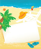 Summer banner. Summer tropical banner, vector illustration Royalty Free Stock Images