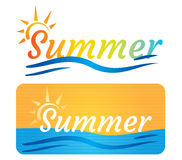 Summer banner Stock Photo