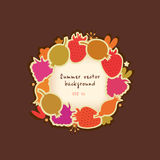 Summer  banner with berries Royalty Free Stock Photos