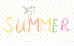 Summer banner with bird artistic Stock Photos