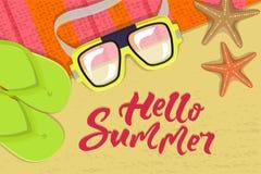 The summer banner Stock Photos