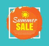 Summer banner brush painting design template Stock Photo