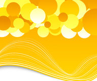 Summer banner with circles Stock Image