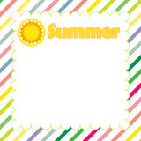 Summer banner design Stock Photography