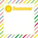 Summer banner design Stock Photography