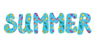 Summer banner with flip flops funny Royalty Free Stock Photos