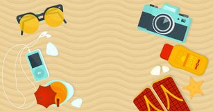 Summer banner Stock Images