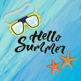The summer banner Stock Photography