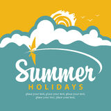 Summer banner with sea Stock Photo