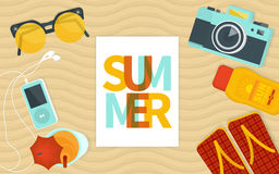 Summer banner template Royalty Free Stock Photography