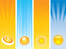Summer banners vector illustration