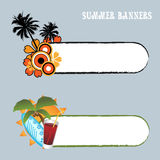 Summer banners. Set of two summer banners isolated on grey with space for your text.EPS file available Stock Images