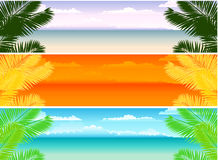 Summer Banners Stock Photo