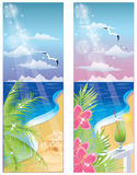 Summer banners, Royalty Free Stock Photos