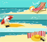 Summer banners Stock Photography