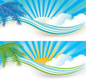 Summer banners. Abstract Summer banner set,  illustration Royalty Free Stock Photography