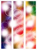 Summer banners. Set of three abstract banners Royalty Free Stock Photography