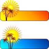 Summer banners Royalty Free Stock Image