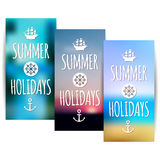 Summer banners with blurred nature background Stock Photography