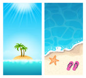 Summer Banners - Exotic Holidays Stock Image
