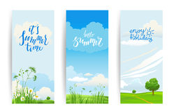 Summer banners nature Royalty Free Stock Photos