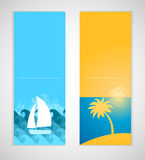 Summer banners. Stock Photo