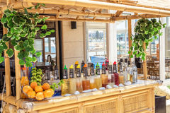 Summer bar at the beach in Bugiba. Malta Stock Photography
