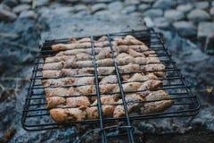 Summer barbecue with chicken. Dinner. Summer barbecue with chicken. Dinner or lunch Royalty Free Stock Photo