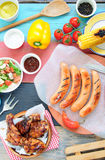 Summer barbecue food Stock Images