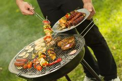 Summer barbecue in the garden stock photography