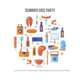 Summer barbecue and grill concept flyer Stock Photo