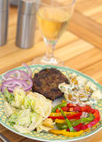 Summer barbecue meal Stock Images