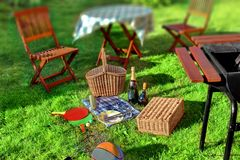 Summer BBQ Party or Picnic Royalty Free Stock Photography