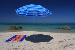 Summer beach. Sunny day in a beautiful beach of Sardinia, Italy Stock Photo